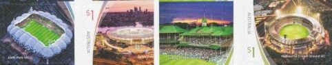 AUS 04/06/2019 Sports Stadiums self-adhesive set of 4 from booklets (exSB658-61)